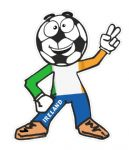 Novelty FOOTBALL HEAD MAN With Ireland Irish IRL Flag Motif For Football Soccer Team Supporter Vinyl Car Sticker 100x85mm